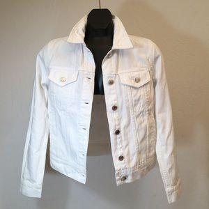 J.Crew White Denim Jacket Size XS